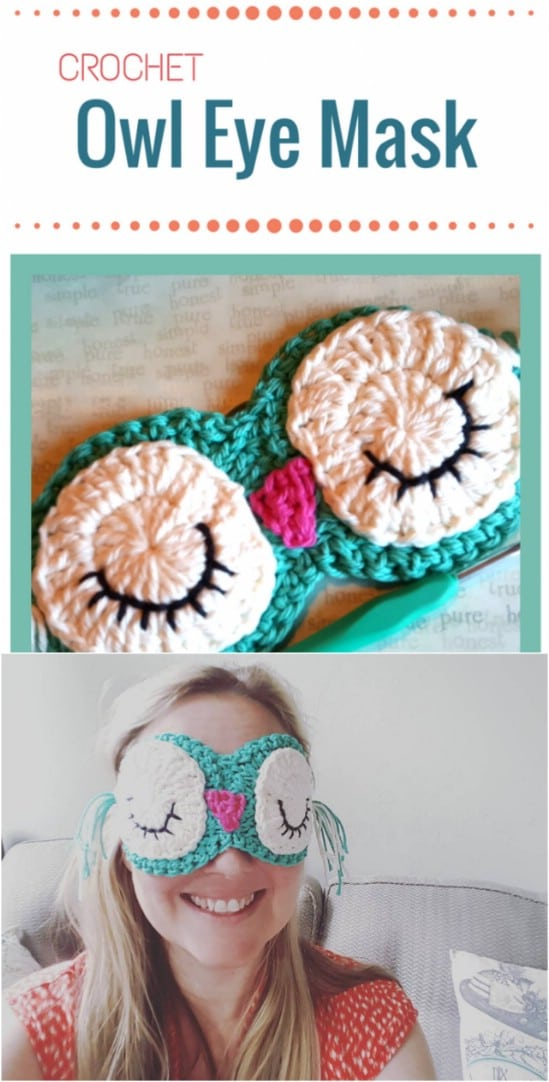 Crocheted Eye Mask