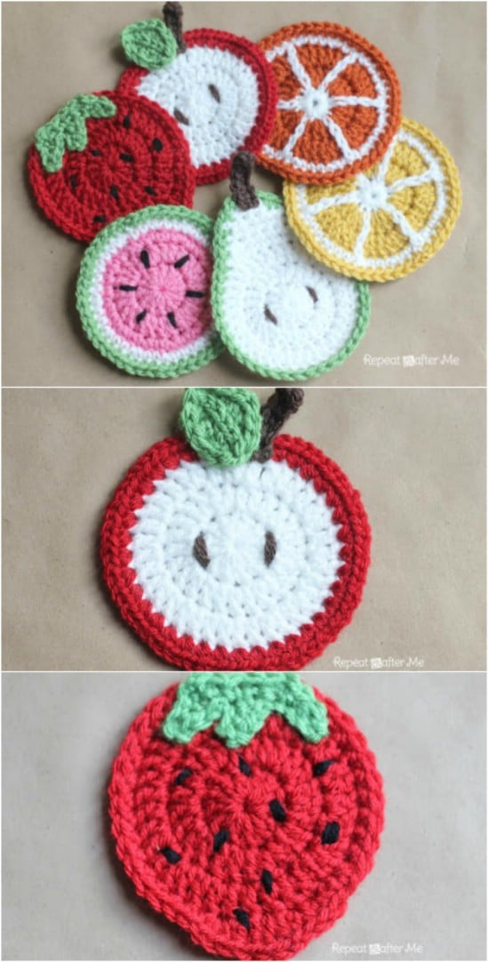 DIY Crocheted Fruit Coasters