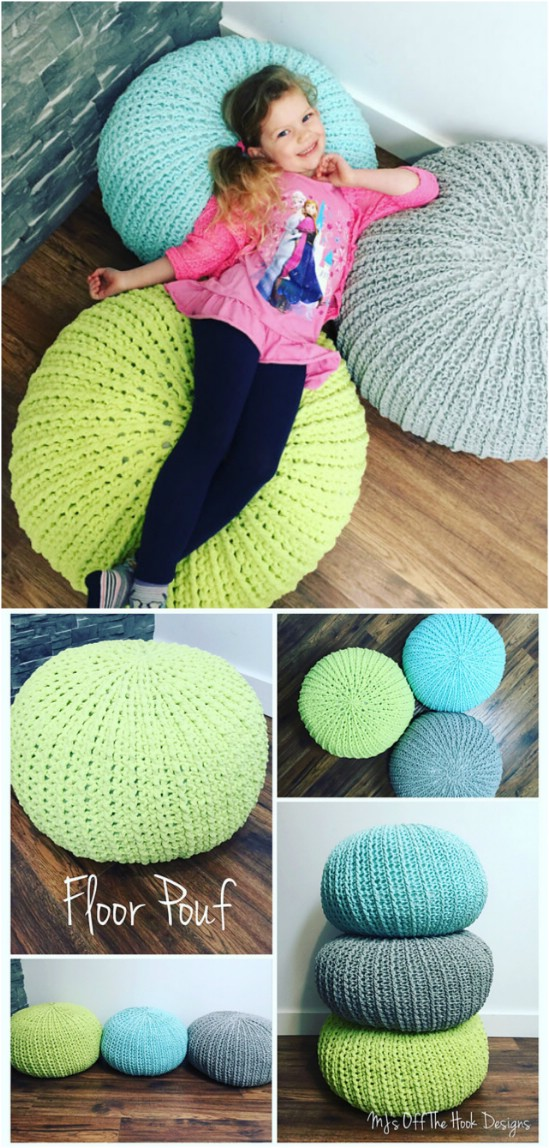 Relaxing Floor Pouf