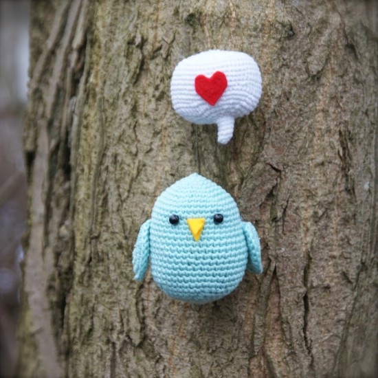 Love Bird Crocheted Toy