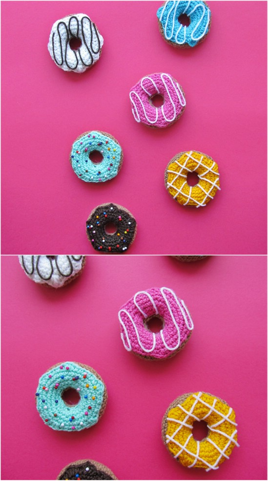 Easy Crocheted Donuts