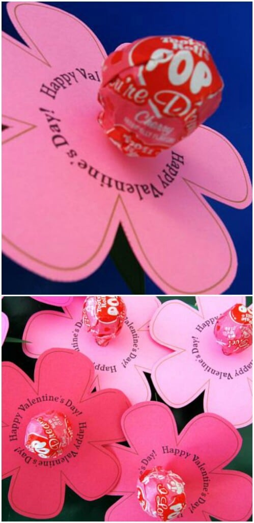 Lollipop Lily - 20 Adorable And Easy DIY Valentine's Day Projects For Kids