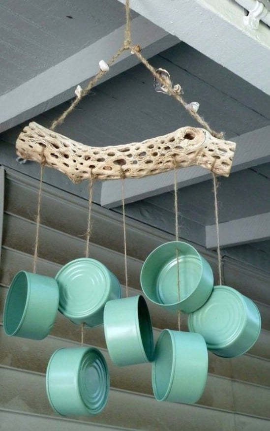 Wind Chimes - 20 Frugally Genius Ways To Upcycle Empty Tuna Cans