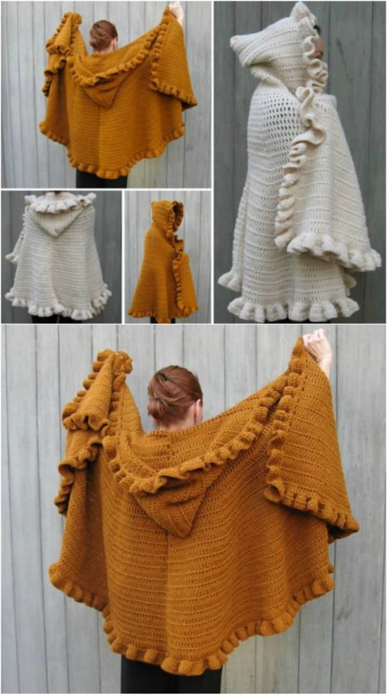 Heavy Hooded Cape