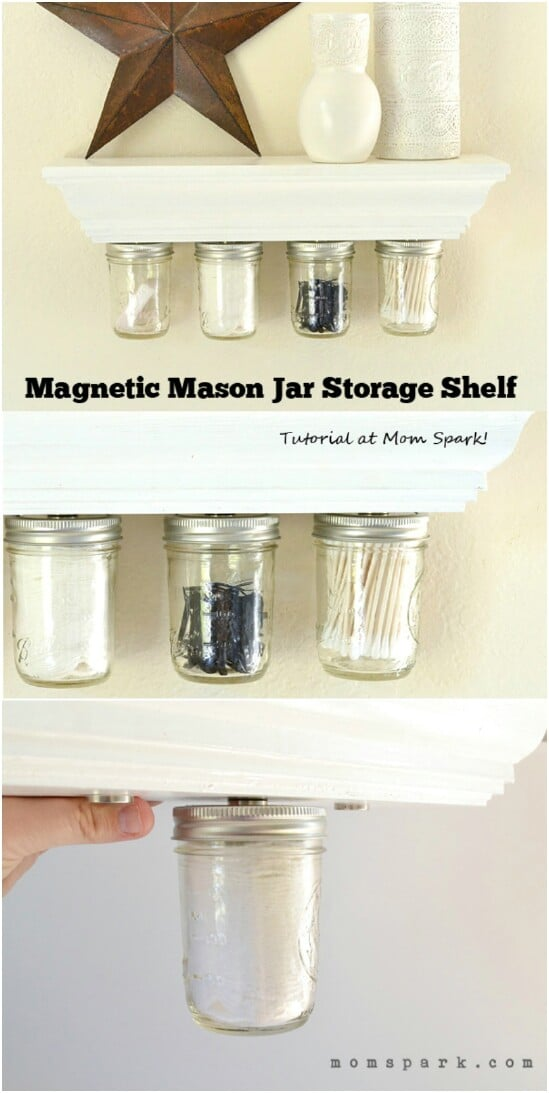 30 Mind Blowing Diy Mason Jar Organizers You Ll Want To Make Right