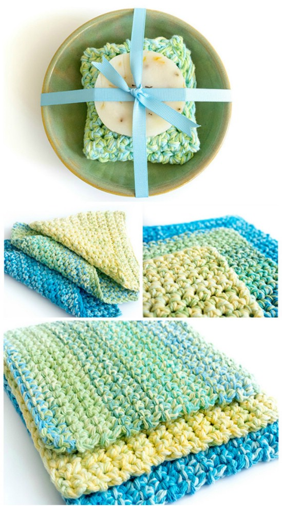 Easy Crocheted Wash Cloths