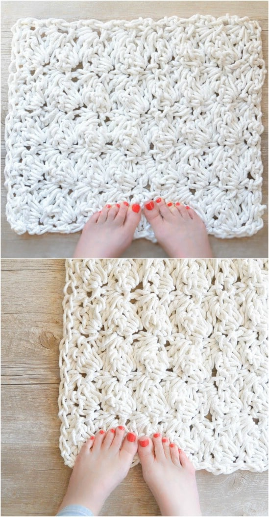 Rope Crocheted Bath Mat