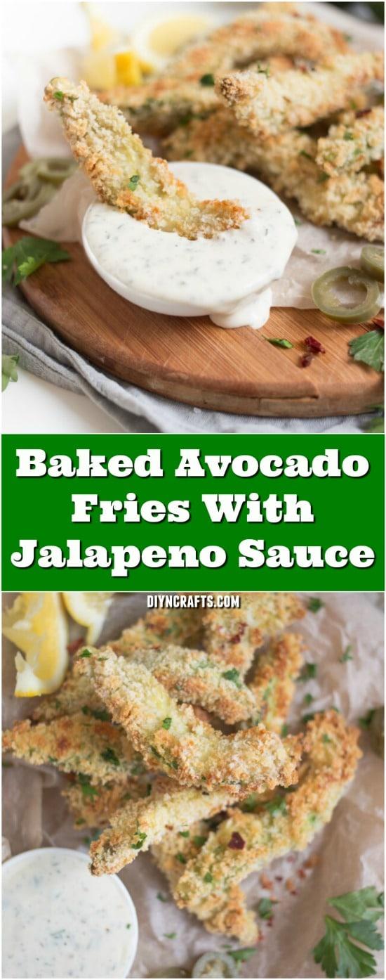 Baked Avocado Fries With Jalapeno Sauce Recipe