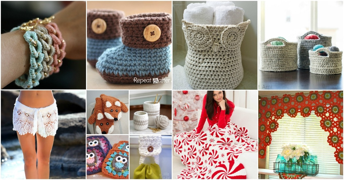 100 Free Crochet Patterns That Are Perfect For Beginners {Cute and easy patterns}