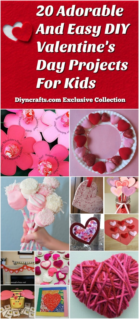 20 Adorable And Easy Diy Valentine S Day Projects For Kids
