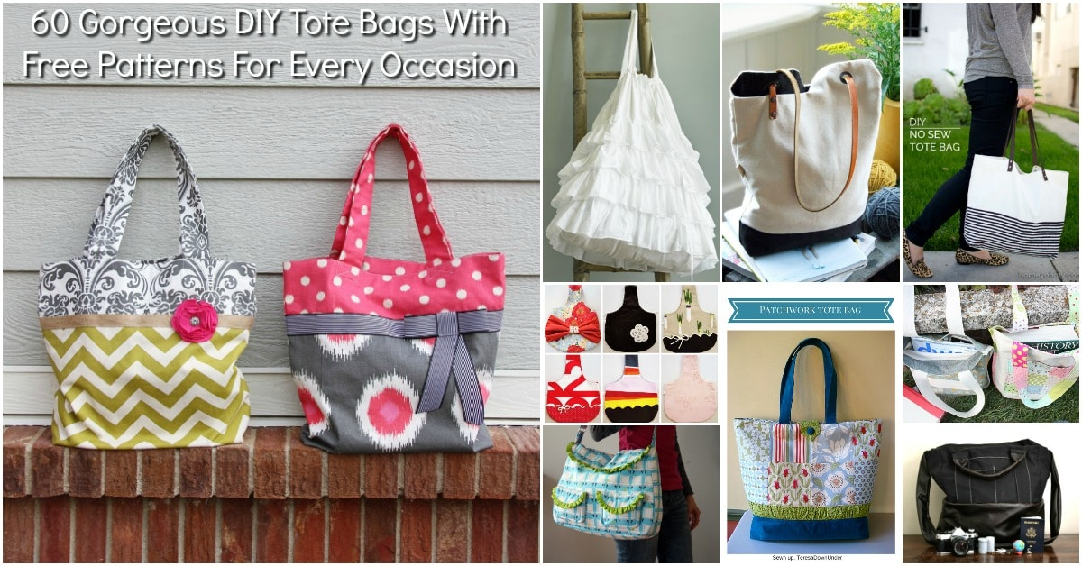 Diy Tote Bags With Free Patterns