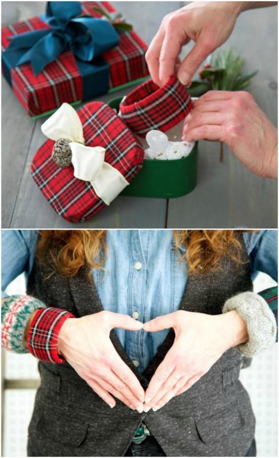 DIY Flannel Chunky Cuff Bracelets