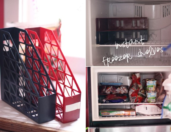 Freezer Organizing Shelves