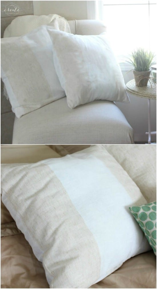 Handmade Pillow Covers From Curtain Panels