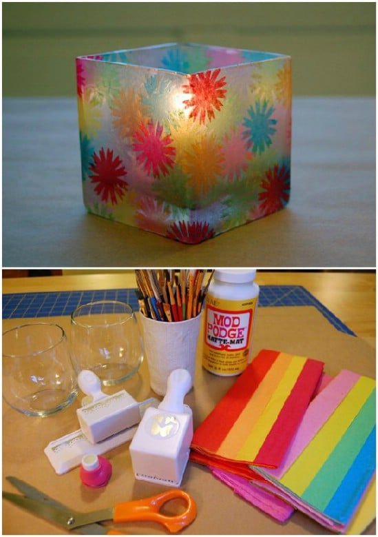 Beautiful Handmade Stained Glass Candles
