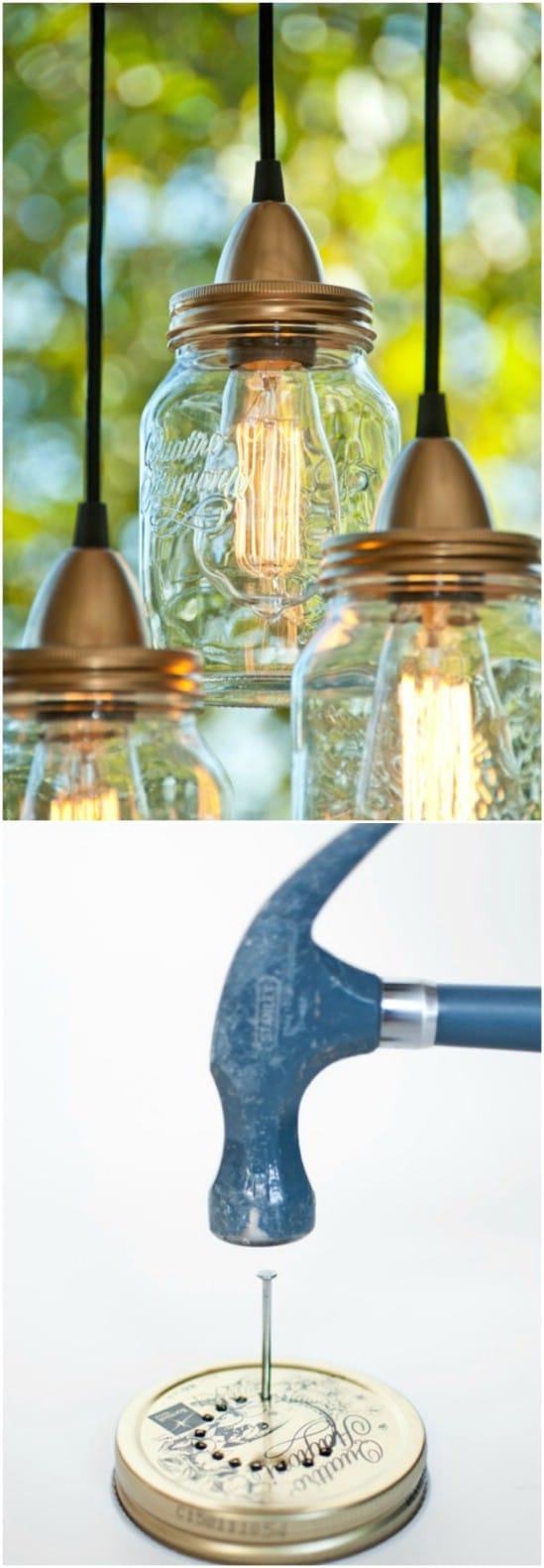 DIY Jar Lamps