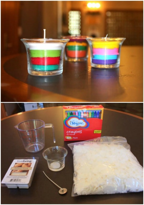 Easy Homemade Crayon Candles
