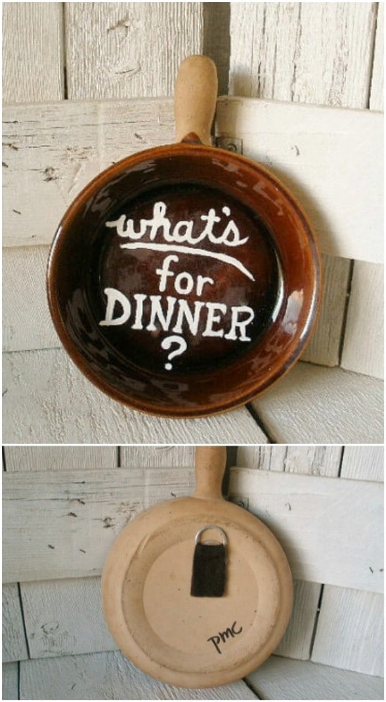 Hand Painted Frying Pan Welcome Sign