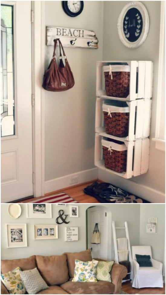 White Basket Storage