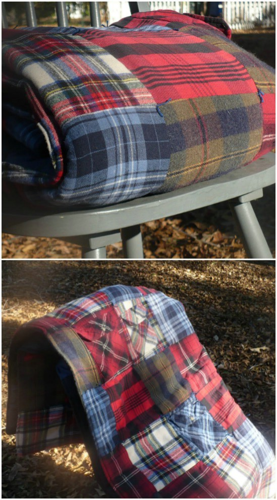 Easy DIY Flannel Shirt Quilt