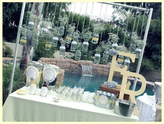 Mason Jar Backdrop For Weddings