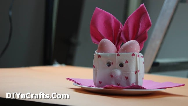 How to Make This Ridiculously Cute Easter Napkin Bunny Bag {Step 10}