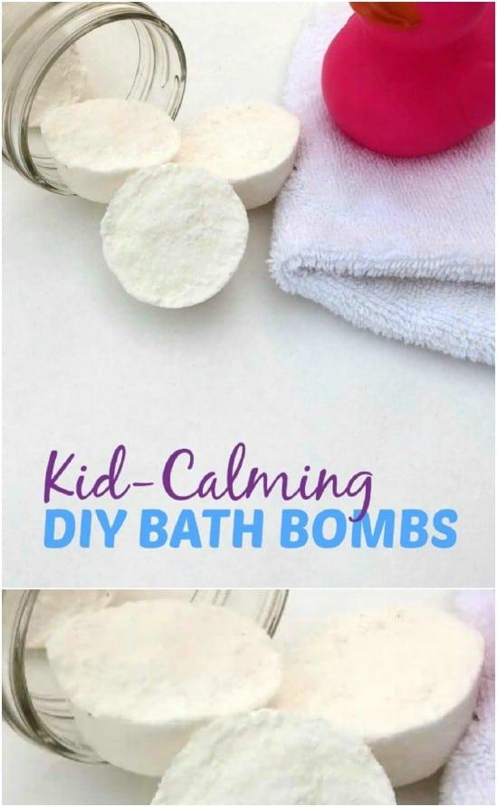 Homemade Kid Calming Bath Bombs