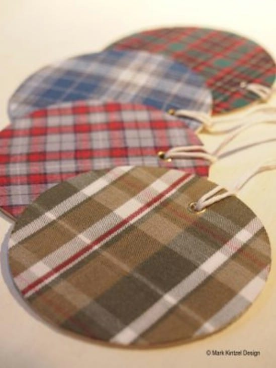 Rustic Country Flannel Gift Tags