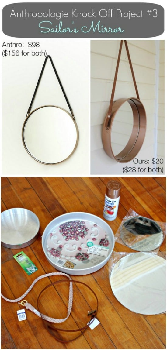 DIY Sailor's Mirror From Cake Pan – Anthropologie Knockoff