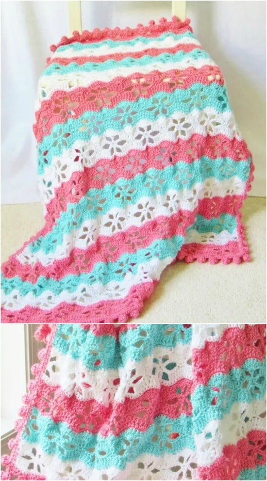 28 Quick And Easy Crochet Blanket Patterns For Beginners