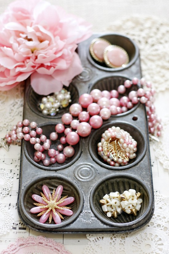 Upcycled Cupcake Tin Jewelry Holder
