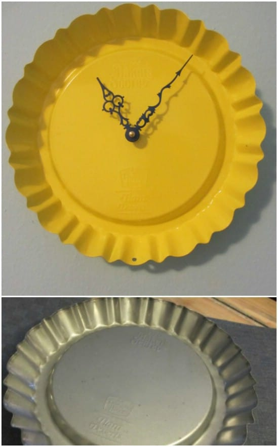 DIY Clock From Dessert Pan