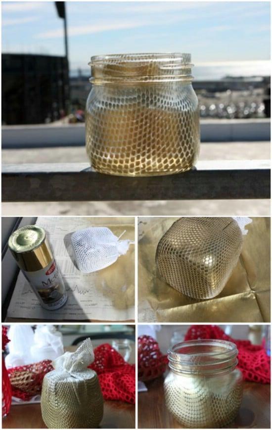 Decorative Fishnet Jars