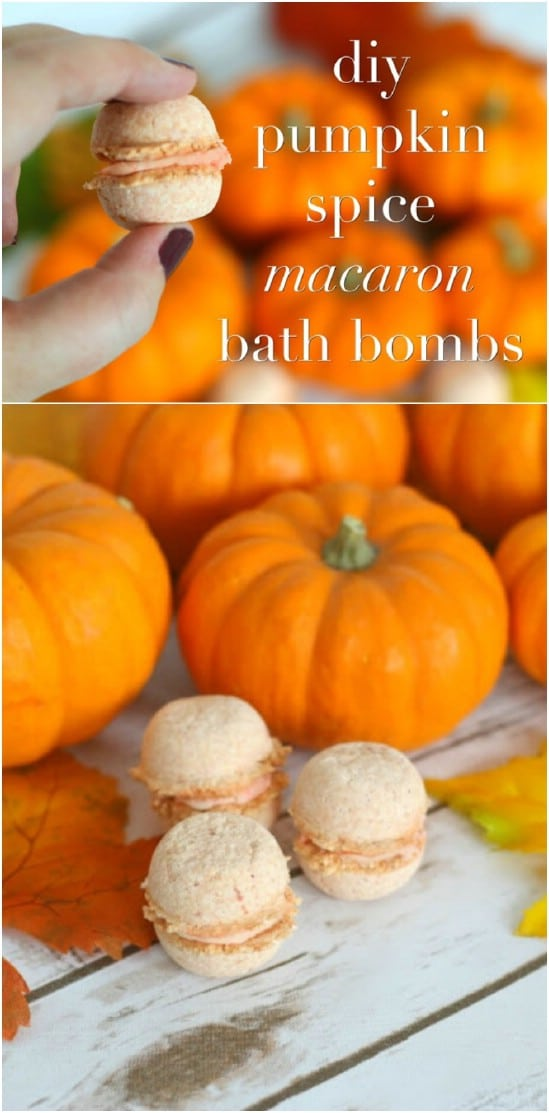 Pumpkin Spice Macaroon Bath Bombs