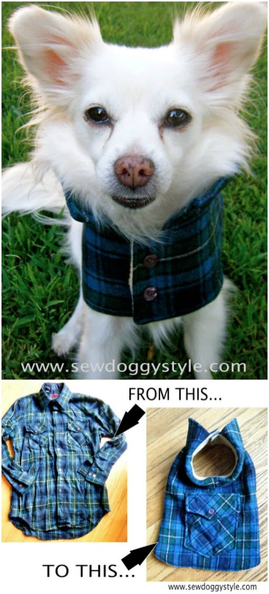 DIY Flannel Dog Coat