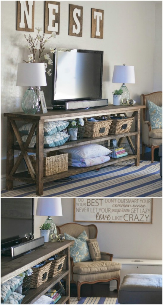 Customize a Rustic Console Table