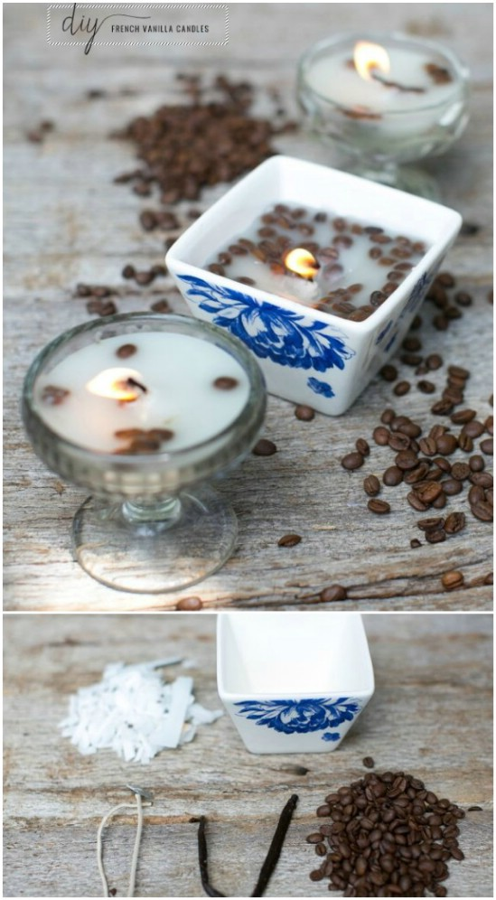 Homemade French Vanilla Candles