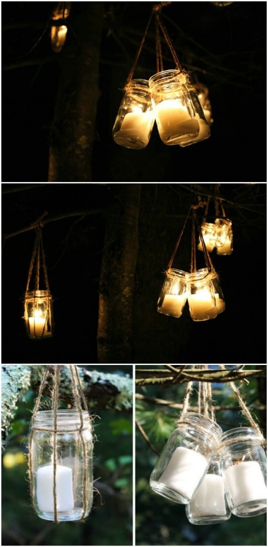 DIY Hanging Jar Lanterns