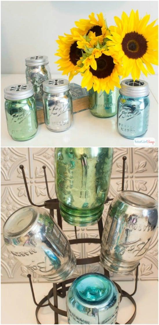 Mirrored Jar Vases