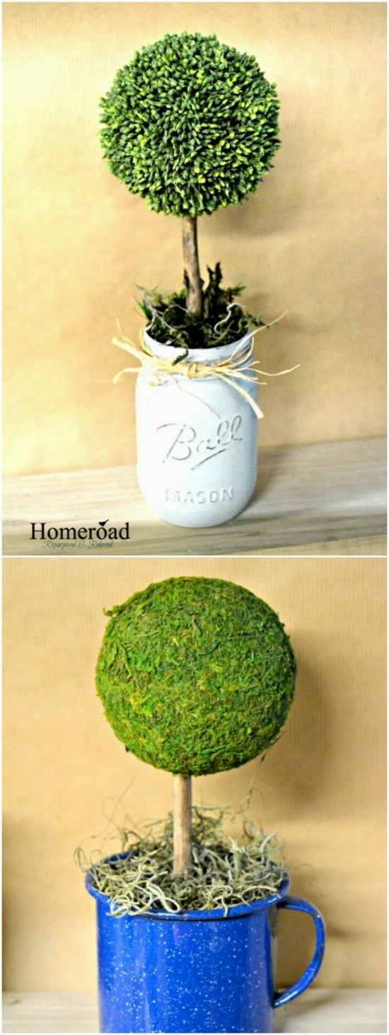Spring Topiary Planters