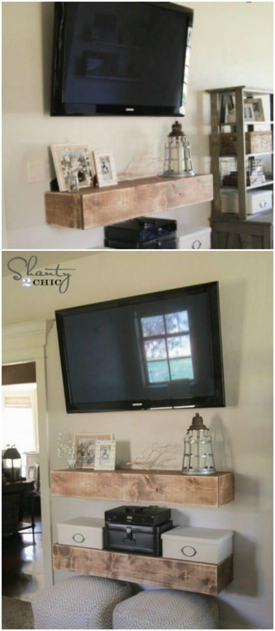 Create Simple Rustic Shelves for a Homespun Look.