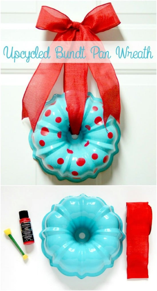 Repurposed Bundt Pan Wreath