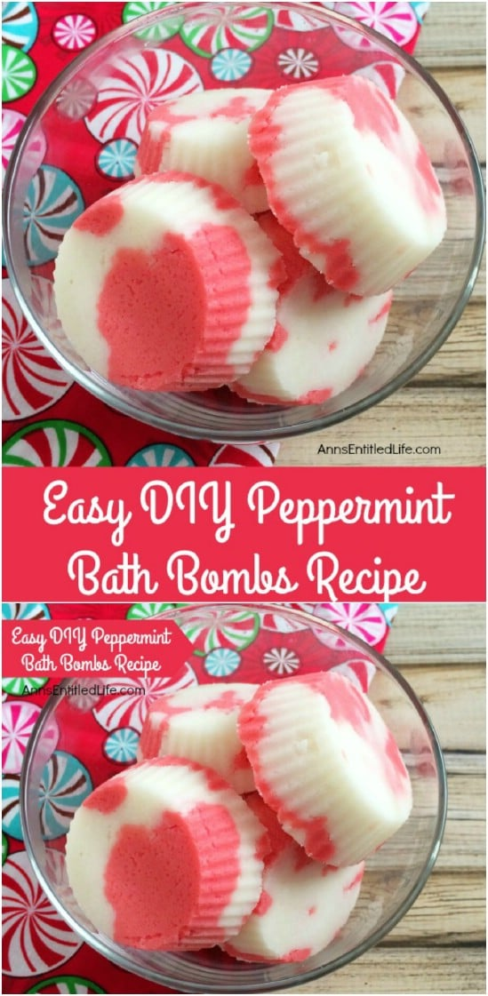 Homemade Peppermint Bath Bombs