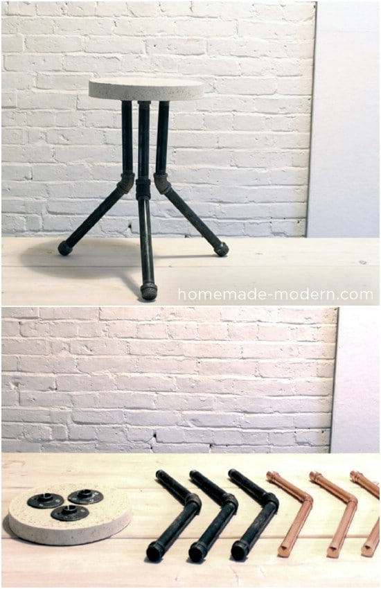 DIY Cake Pan Stool