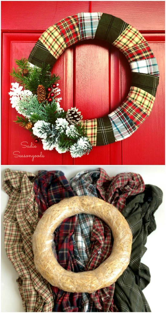 Rustic Country Holiday Wreath