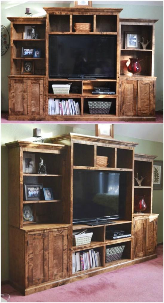 Build This Gorgeous Wood Media Center.