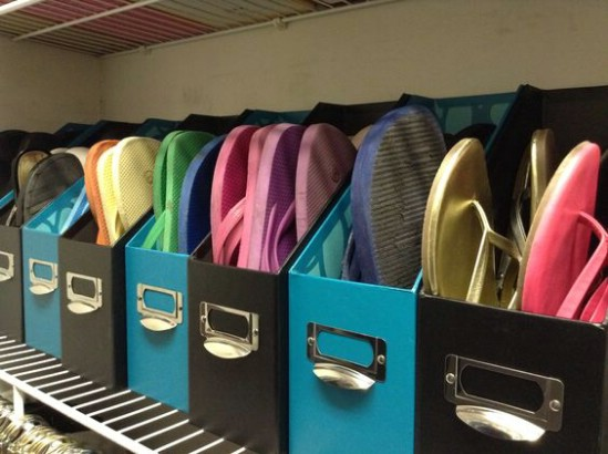 Easy And Inexpensive Flip Flop Storage