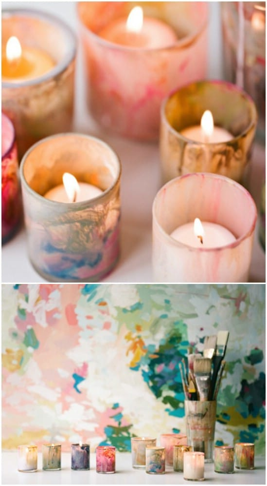 Easy Painted Votive Holders