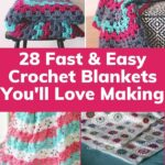 Crochet Blankets Collage