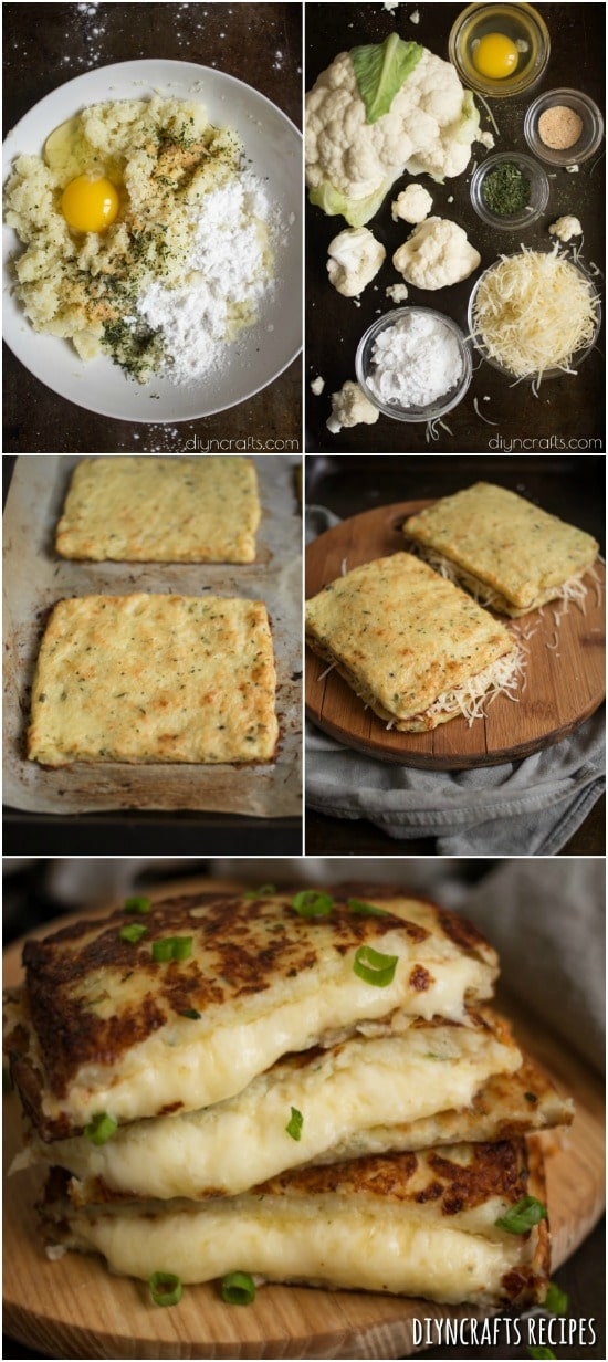 Cauliflower Grilled Cheese – A Delicious And Healthy Snack Alternative {DIYnCrafts Recipes}